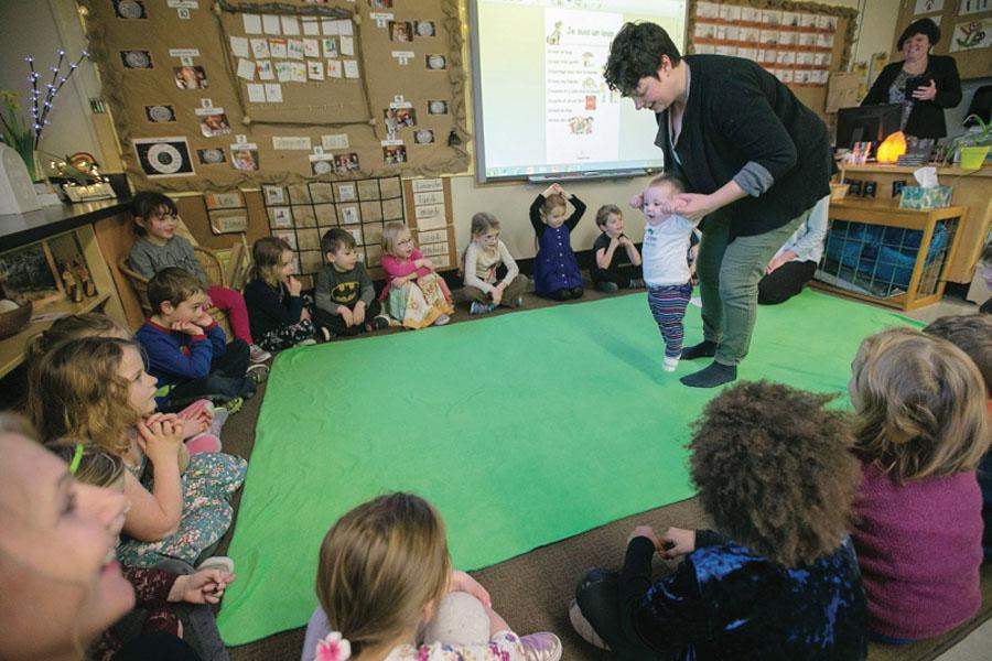 Babies help kindergarten students develop empathy