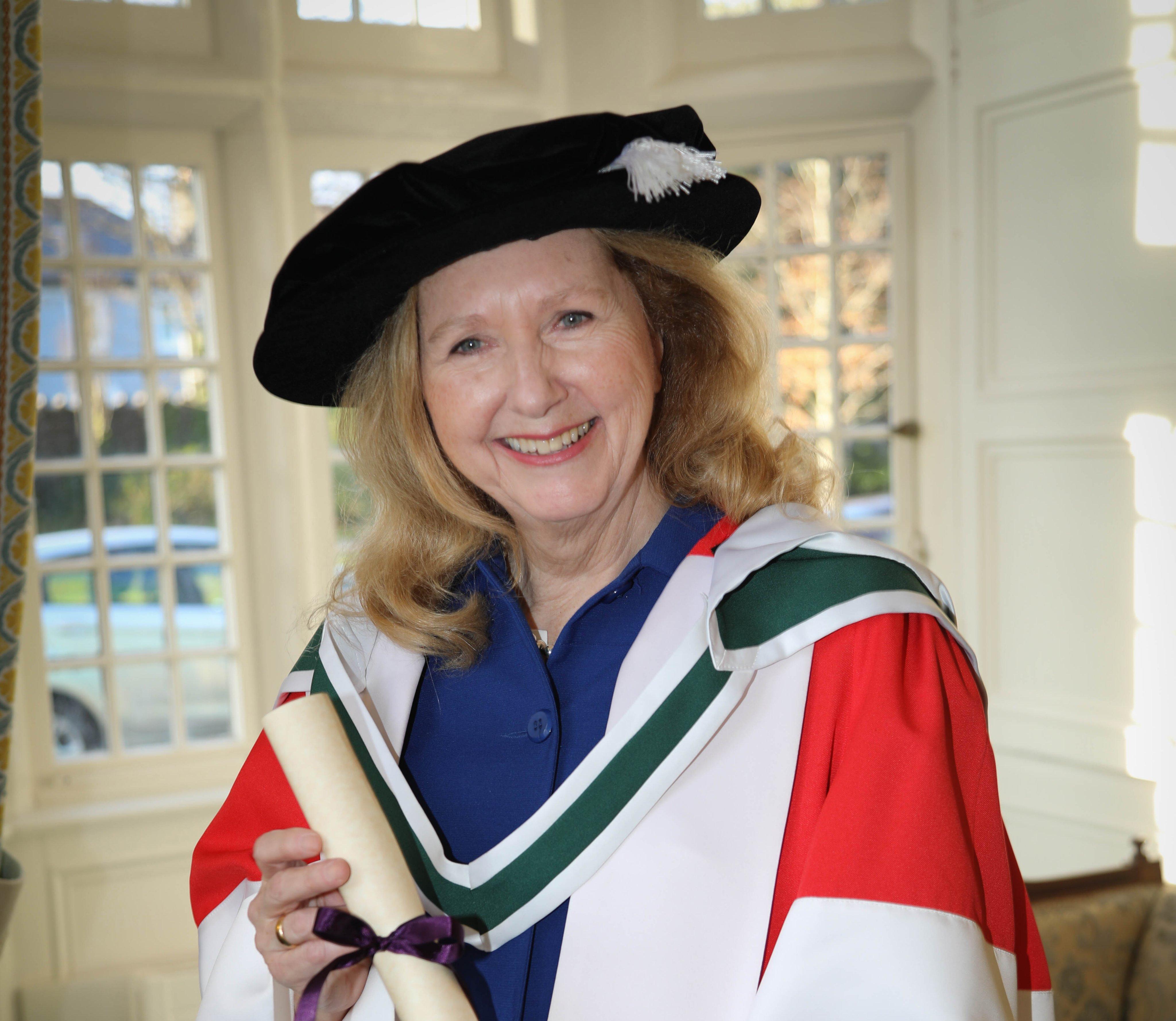 Mary Gordon receiving honourary degree in Ireland