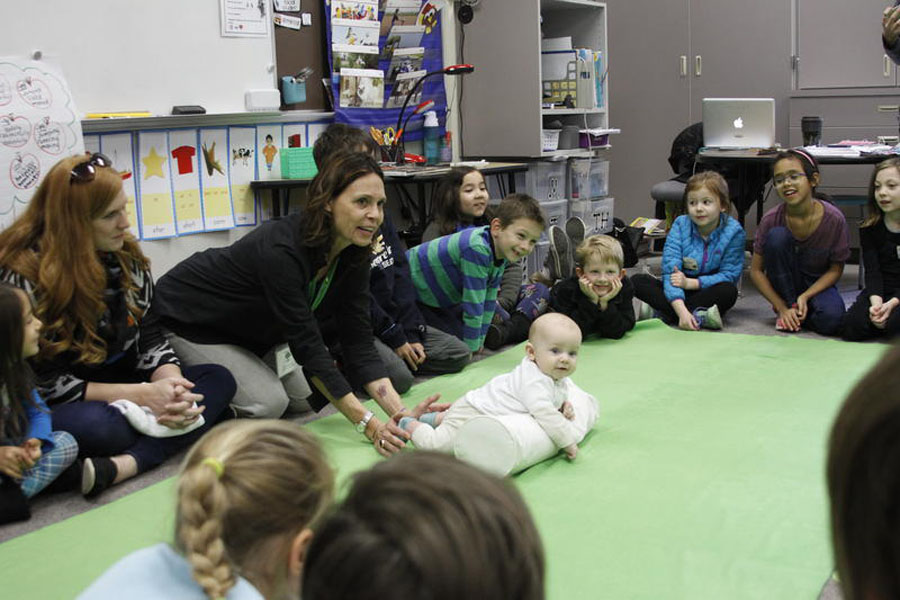 This baby teaches empathy to second-graders