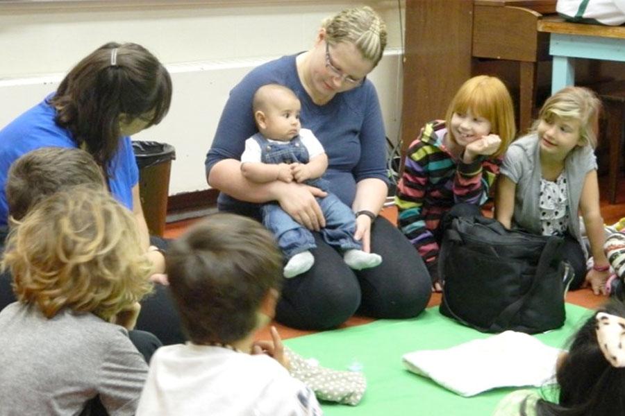 New born infants teach students empathy