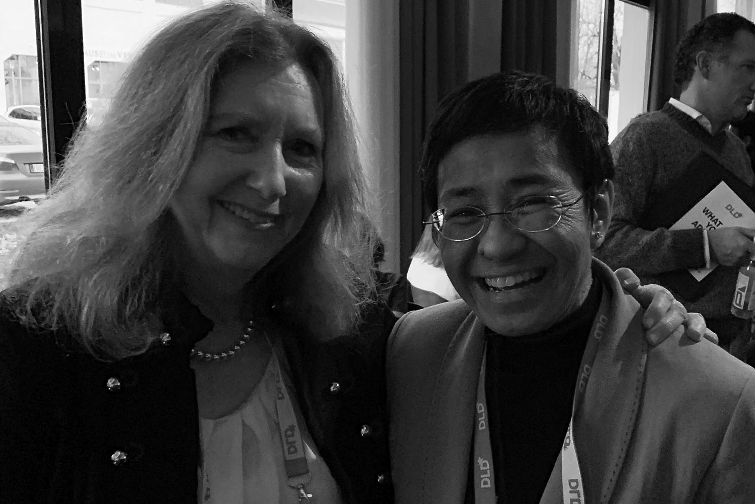 Mary Gordon with Maria Ressa, CEO of Rappler and 2018 Time Magazine Person of the year