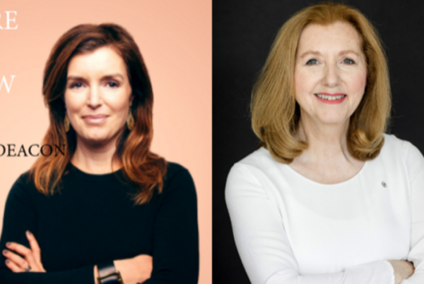 Mary Gordon and Gill Deacon profile shots. Here and Now CBC
